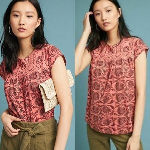 Anthropologie Postmark Penelope Printed Top